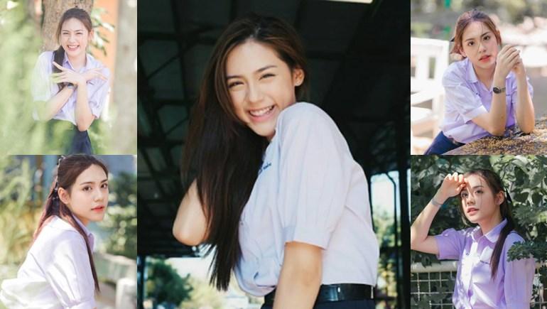 เปิดภาพ สาวสวย ยิ้มน่ารัก 'น้องแทน ธนัชชา' ดีกรีดาวโรงเรียนสตรีอ่างทอง