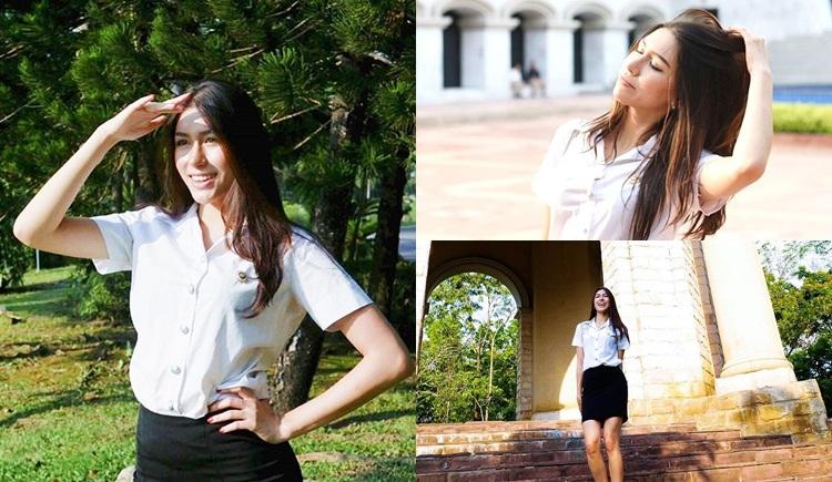 Seeme ดาราในชุดนักศึกษา มิสแกรนด์ 2017 แพม ปาเมล่า