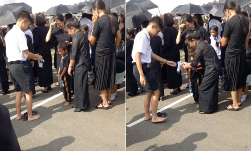 นักเรียน พระราชพิธีถวายพระเพลิง ร.9 ภาพสุดประทับใจ ในหลวงรัชกาลที่ 9