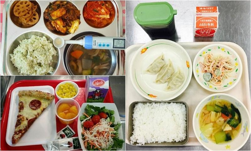 ความแตกต่าง นักเรียน อาหารกลางวัน โรงเรียน
