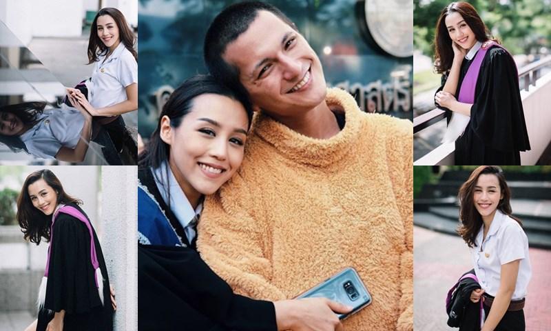 tu ชิน ชินวุฒิ ดารารับปริญญา ดาราเรียนจบ ดาราในชุดครุย ลิลลี่ ภัณฑิลา