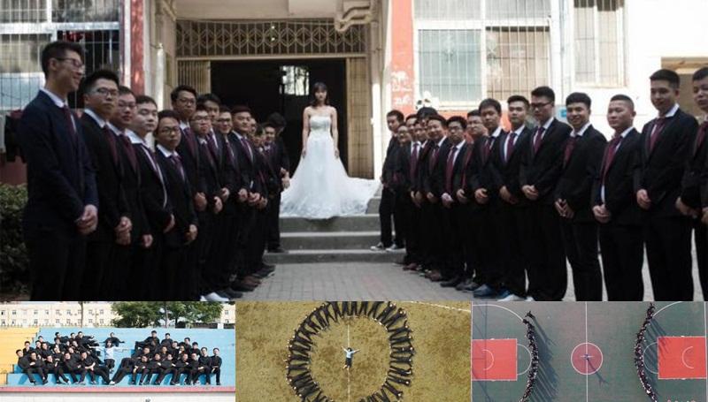นักศึกษาจีน ภาพจบการศึกษา ไอเดียถ่ายรูป