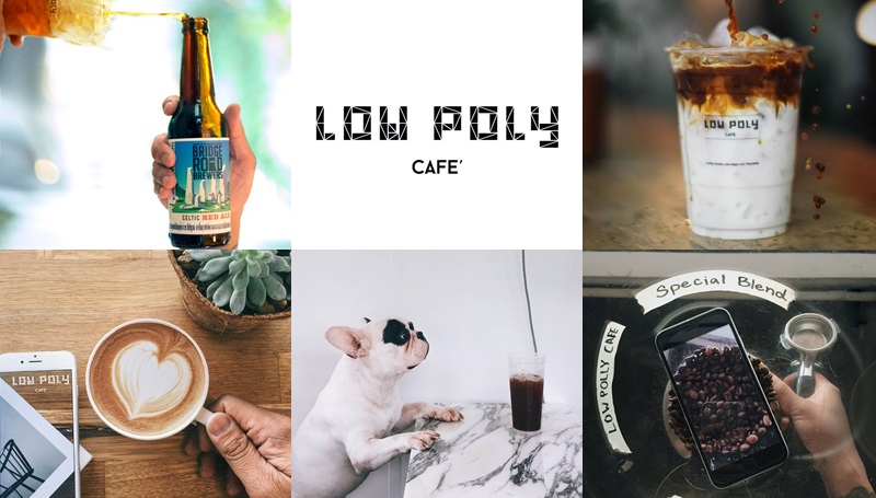 ANYWHERE French Bulldog LOW POLY CAFE ร้านนั่งชิล ร้านน่านั่ง ร้านน่านั่งแถวเมืองทอง ร้านน่านั่งในเมืองทองธานี