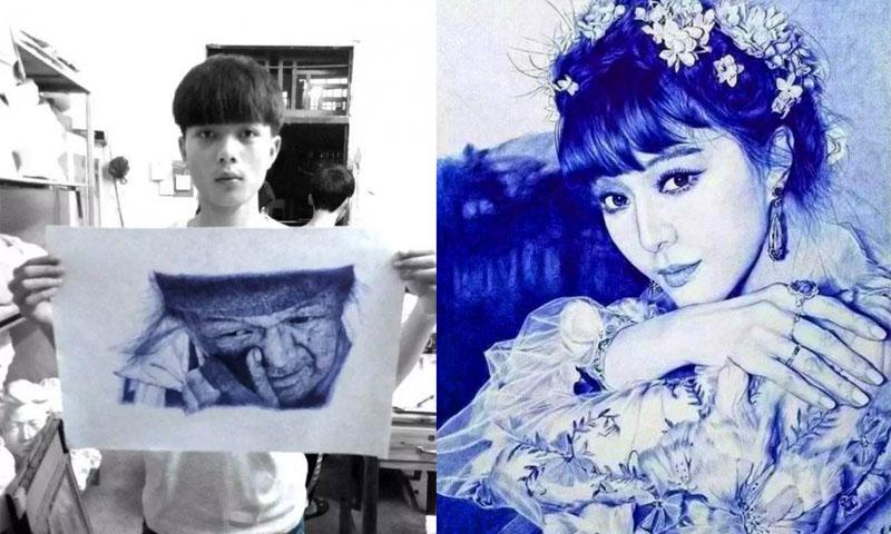 นักวาดภาพ นักเรียนจีน ประเทศจีน เด็กเก่ง