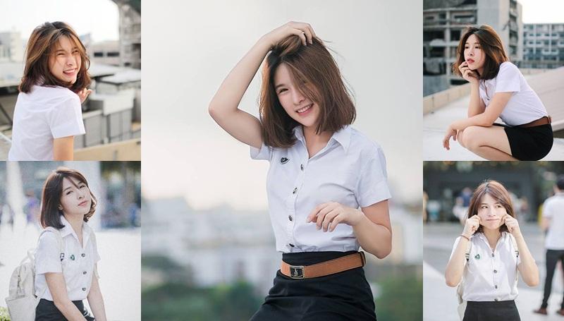 cute girl KU Cute Girl ปั้น ปติมา จงยิ่งศิริ สาวผมสั้น