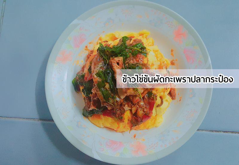 ข่าว ข้าวไข่ข้นผัดกะเพราปลากระป๋อง ปลากระป๋อง เมนูเด็กหอ ไข่ไก่