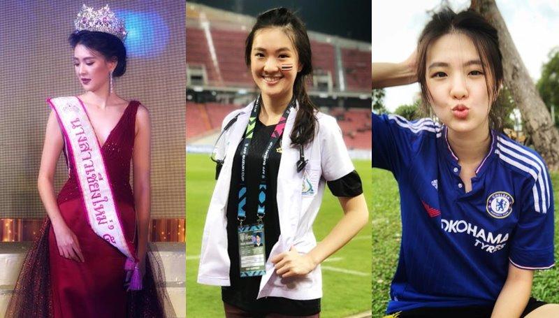 cute girl คุณหมอน่ารัก นางสาวเชียงใหม่ มิสยูนิเวิร์สไทยแลนด์ ลี่ลี่ สิริน แพทย์สนาม