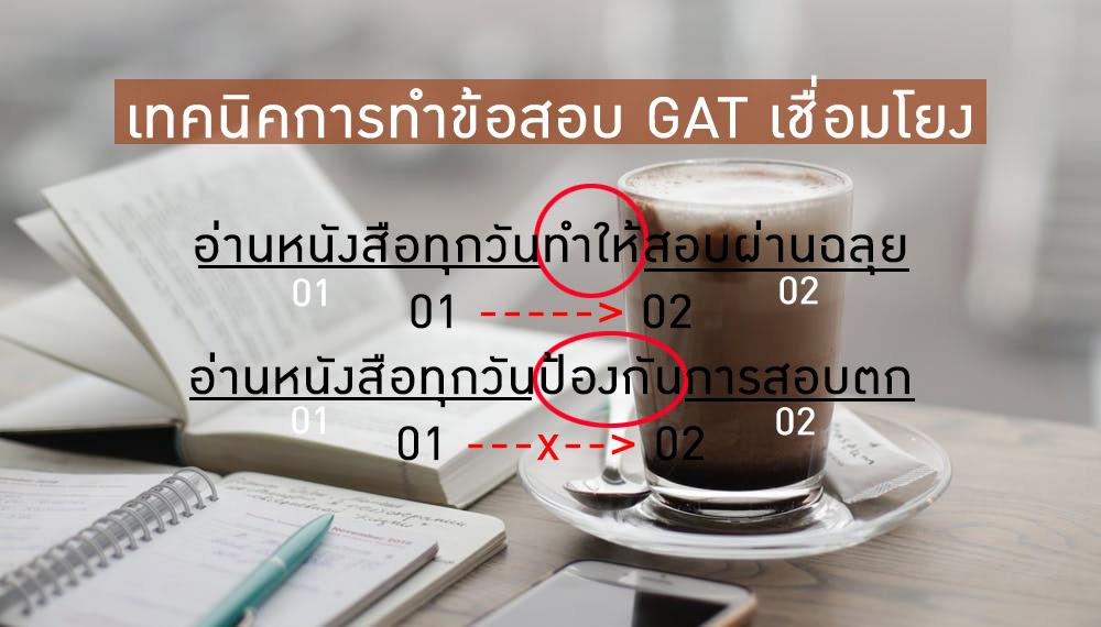 GAT เชื่อมโยง ข้อสอบ ข้อสอบ GAT เทคนิคการทำข้อสอบ