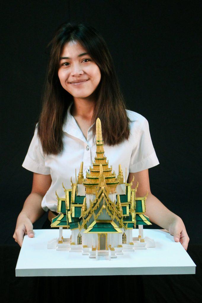 ผลงานการออกแบบ ศาลหลักเมือง กรุงเทพฯ นางสาวภณลต ไชยบำรุง