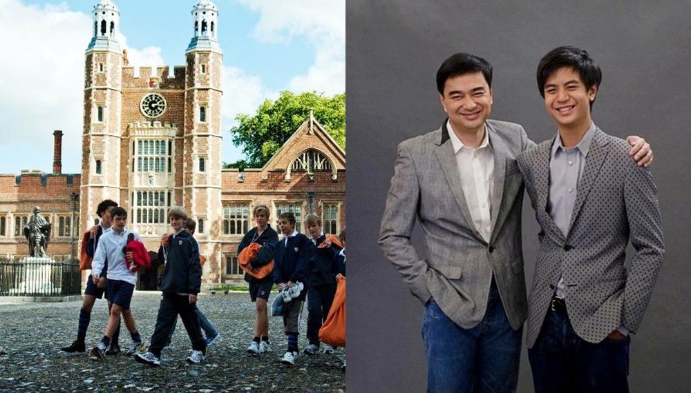 Eton College ทอม ฮิดเดิลสตัน ศิษย์เก่า อภิสิทธิ์ เวชชาชีวะ เรียนเก่ง เอดดี เรดเมย์น โรงเรียนชายล้วน ไอติม-พริษฐ์ วัชรสินธุ