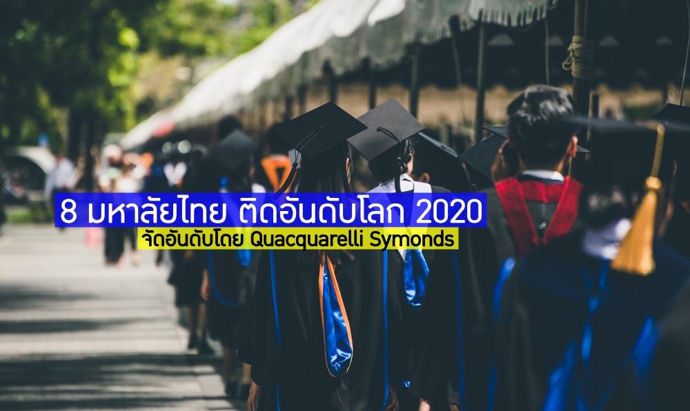 QS World University Rankings การจัดอันดับ การจัดอันดับมหาวิทยาลัยระดับโลก อันดับมหาวิทยาลัยของไทย