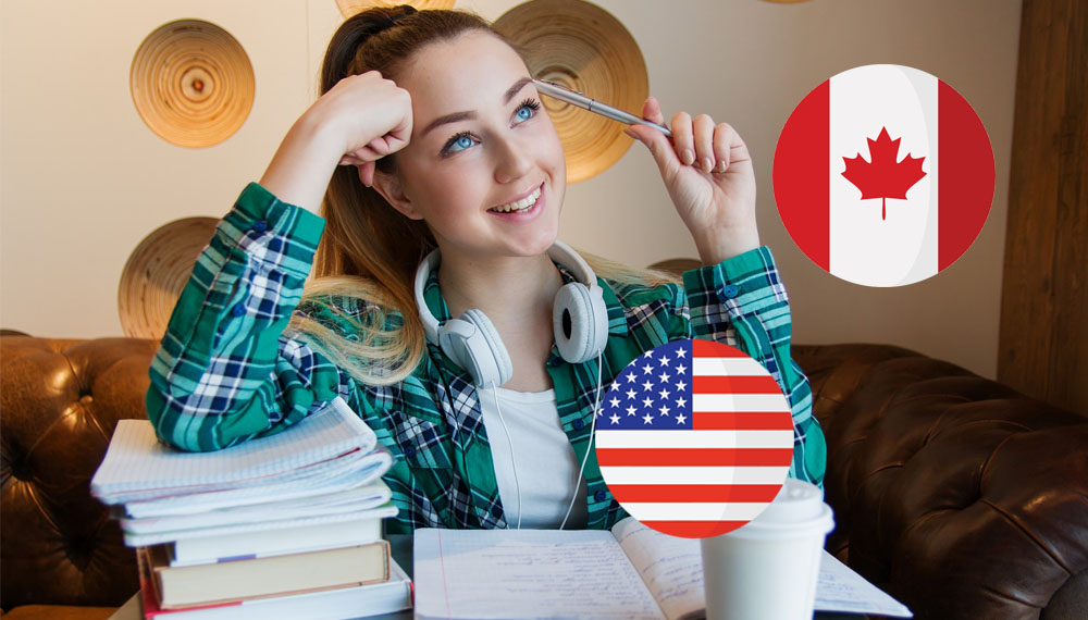 ประเทศสหรัฐอเมริกา ประเทศแคนาดา มหาวิทยาลัยต่างประเทศ
