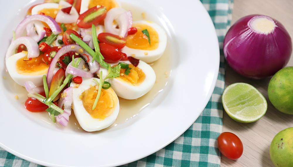 สูตรอาหารทำง่าย เมนูยำ เมนูเด็กหอ เมนูไข่