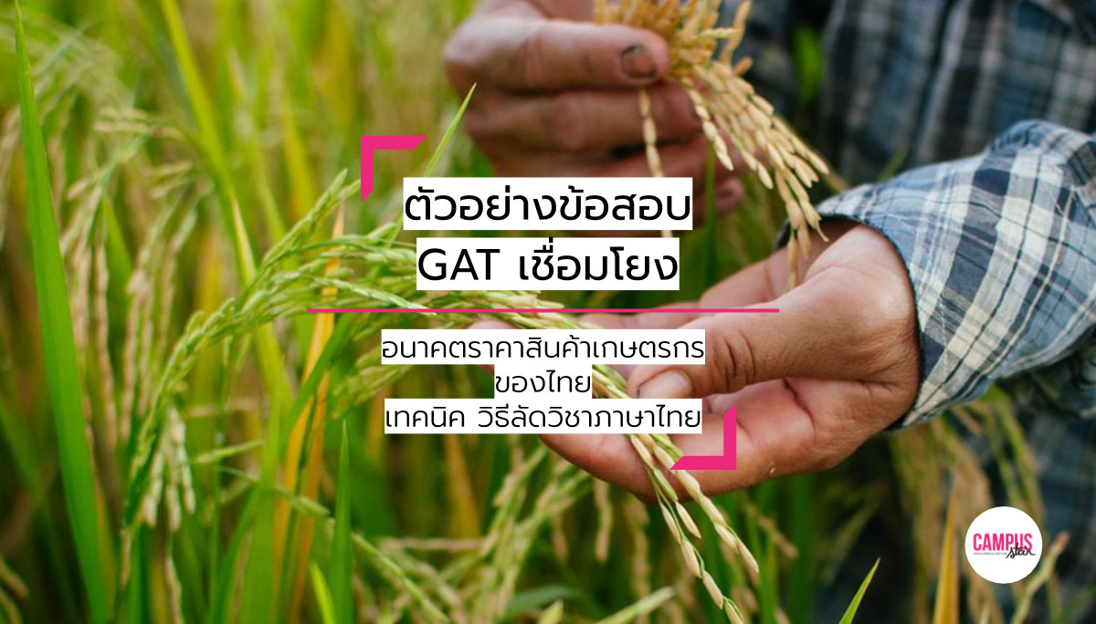 GAT เชื่อมโยง ข้อสอบจริง ตัวอย่างข้อสอบ วิชาภาษาไทย วิธีลัดวิชาภาษาไทย