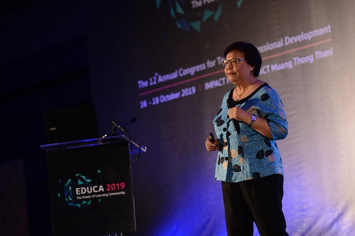 รองศาสตราจารย์คริสทีน คิม อิ๊ง ลี จากสถาบันครุศึกษาแห่งชาติ มหาวิทยาลัยเทคโนโลยีนันยาง ประเทศสิงคโปร์
