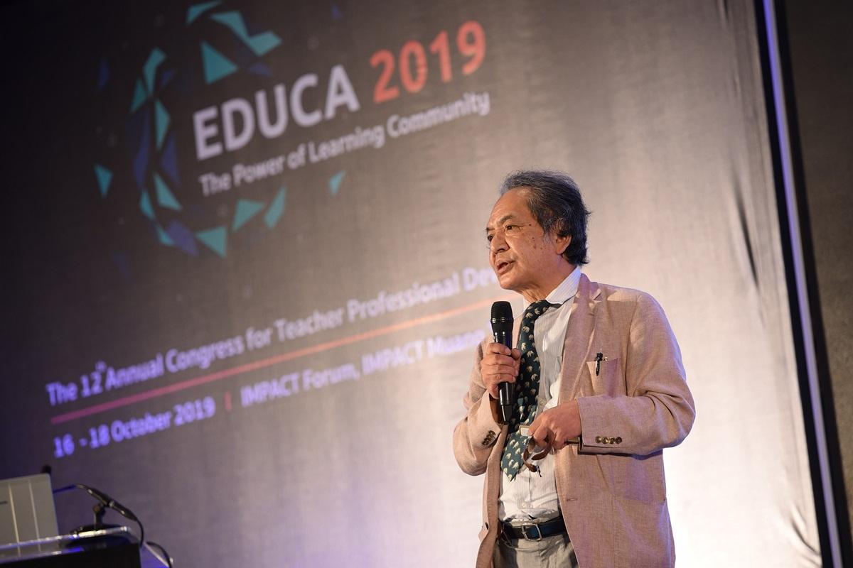 ศาสตราจารย์มานาบุ ซาโต ประธานเครือข่ายนานาชาติ โรงเรียนในฐานะชุมชนแห่งการเรียนรู้