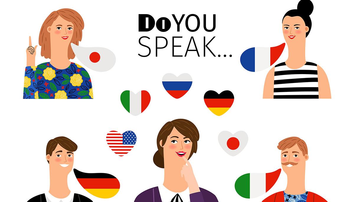 การทำงาน ภาษาต่างประเทศ ภาษาที่สาม ภาษายอดนิยม