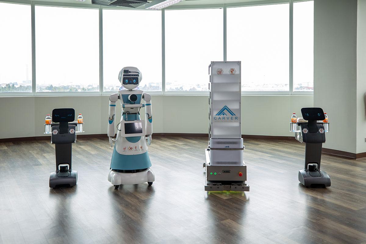 เปิดตัว มดบริรักษ์ ชุดระบบหุ่นยนต์ ช่วยบุคลากรทางการแพทย์ โดยฟีโบ้และ มจธ