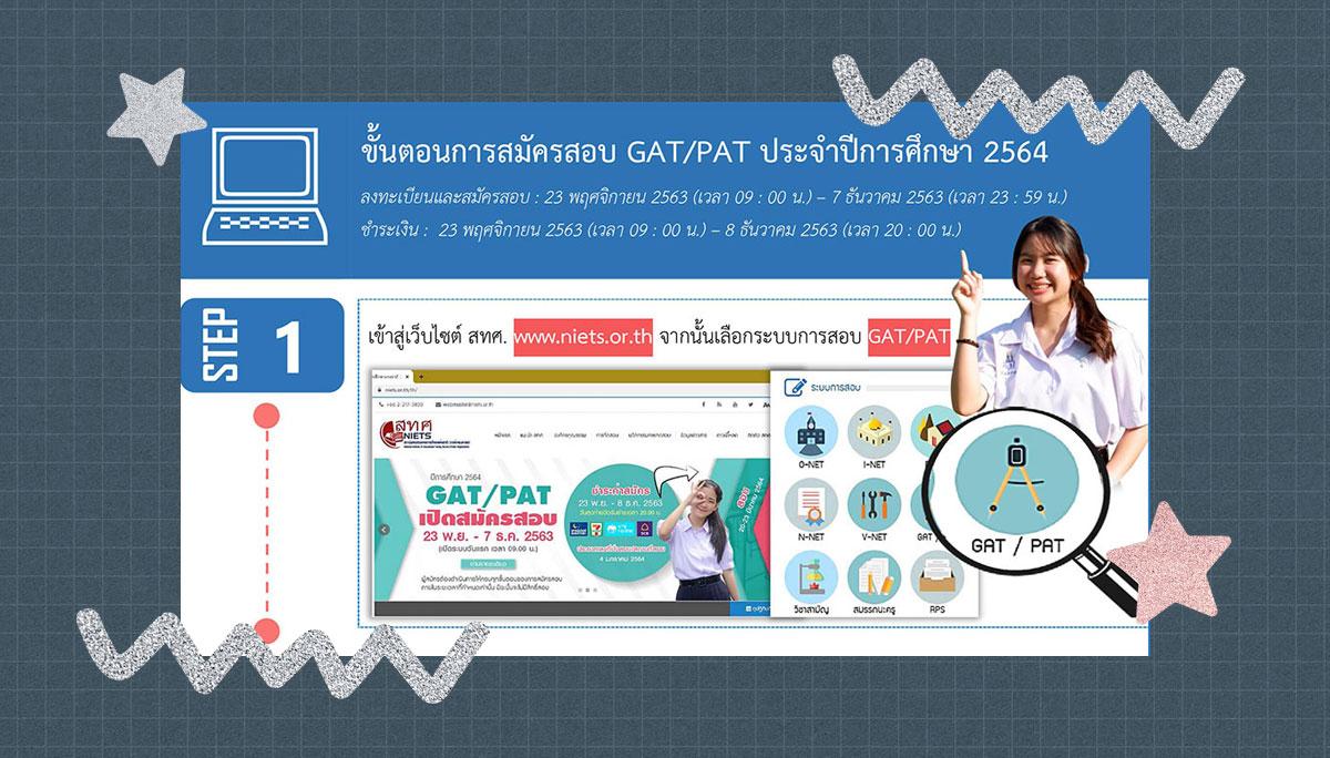GAT/PAT GAT/PAT64 ขั้นตอน ขั้นตอนการสมัครสอบ