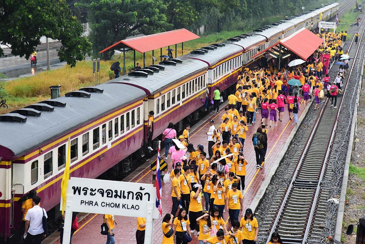 ภาพประเพณีการรับน้องรถไฟ ปีการศึกษา 2561