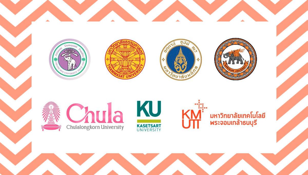 จุฬา บริติช เคานซิล ม.เชียงใหม่ มหาวิทยาลัยไทย