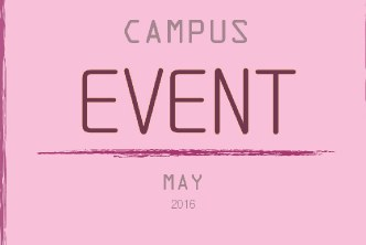 CAMPUS EVENT MAY 2016